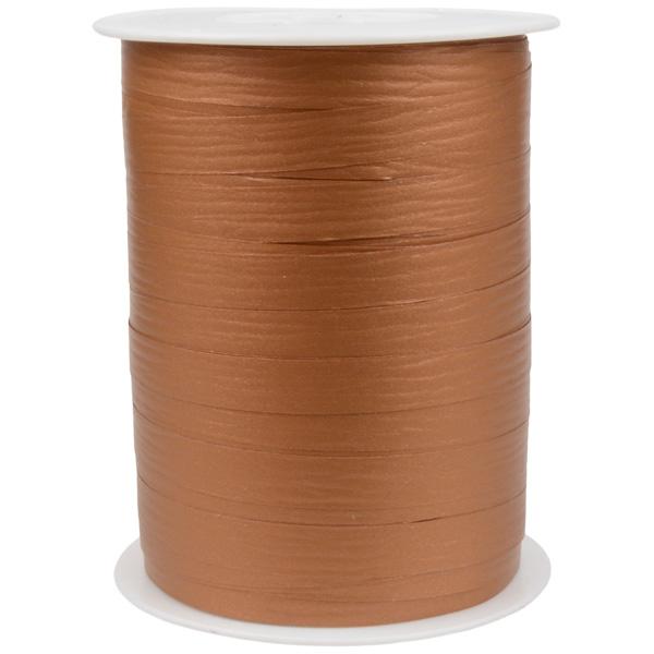 Bolduc ruban mat, avec texture Cuivre  10 mm x 250 m