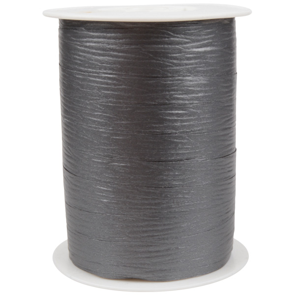 Bolduc ruban mat, avec texture Gris foncé  10 mm x 250 m