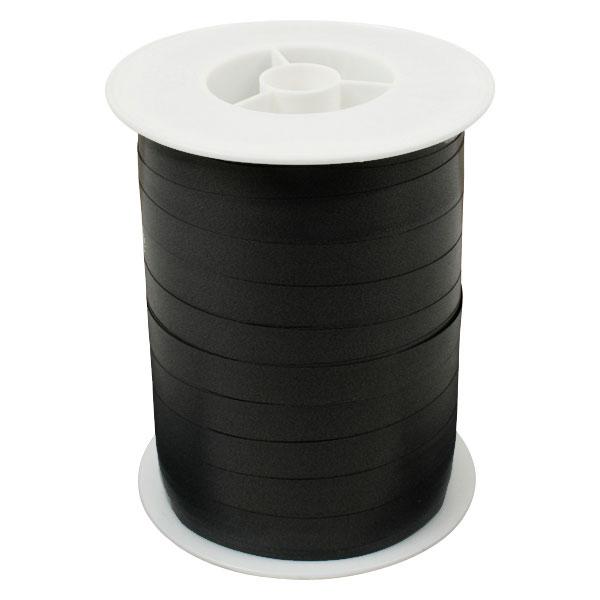 Plain lint, breed Zwart  10 mm x 250 m