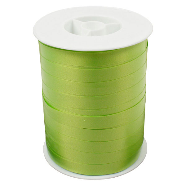 Bolduc ruban standard satiné, large Vert citron  10 mm x 250 m
