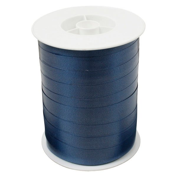 Bolduc ruban standard satiné, large Bleu foncé  10 mm x 250 m