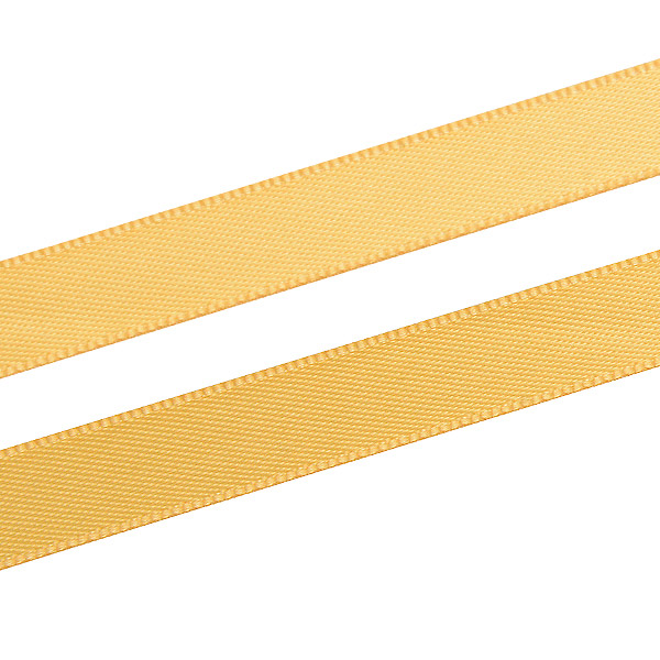 Glad satijnlint, smal Antiek goud  9 mm x 91,4 m