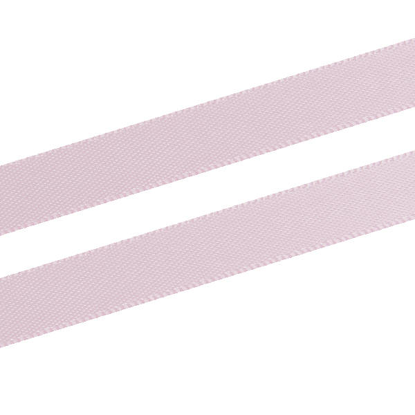 Ruban satin double face, étroit Rose clair  9 mm x 91,4 m