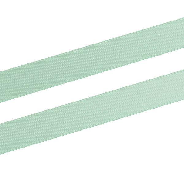 Glad satijnlint, smal Mintgroen  9 mm x 91,4 m