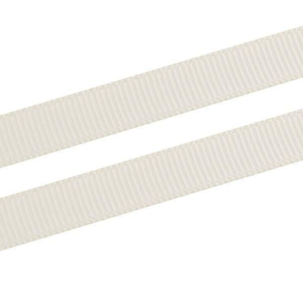 Geribbeld Satijnlint, smal Creme Grosgrain Lint  9 mm x 91,4 m