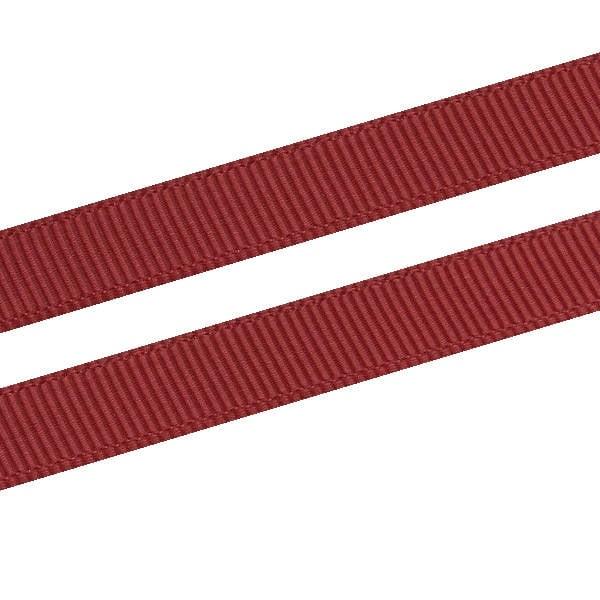 Geribbeld Satijnlint, smal Bordeauxrood Grosgrain Lint  9 mm x 91,4 m