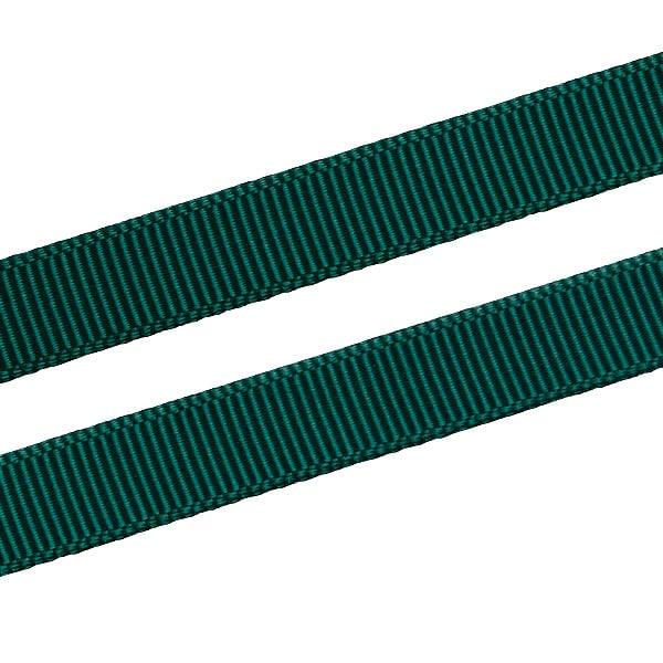 Geribbeld Satijnlint, smal Donkergroen Grosgrain Lint  9 mm x 91,4 m