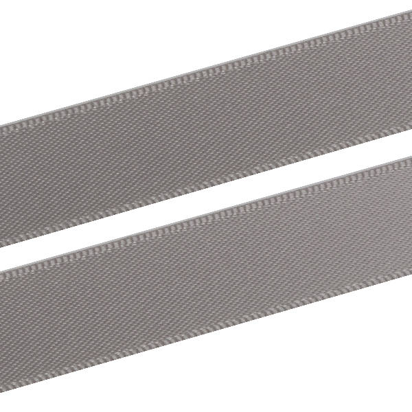 Glad Satijnlint, breed Donkergrijs lint  16 mm x 91,4 m