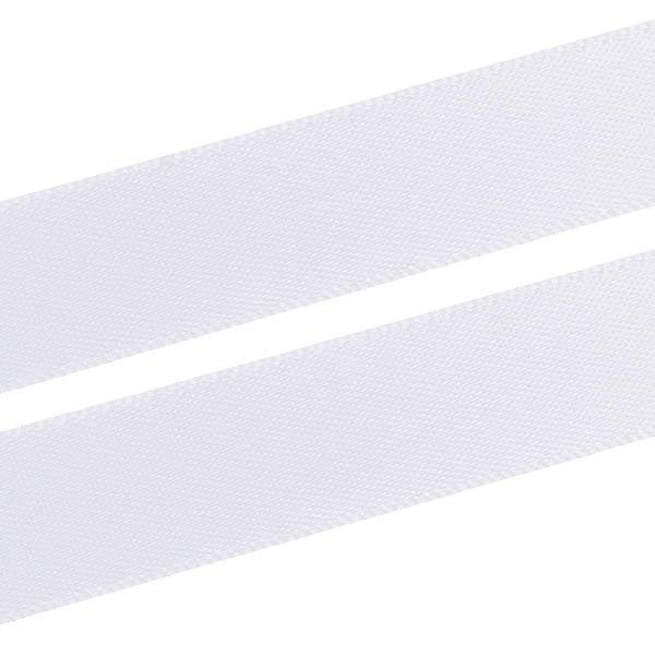 Glad Satijnlint, breed Wit lint  16 mm x 91,4 m