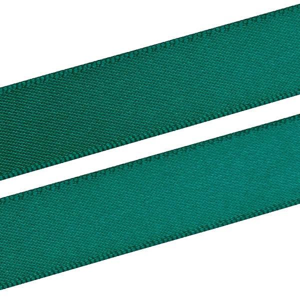 Glad Satijnlint, breed Donkergroen  16 mm x 91,4 m
