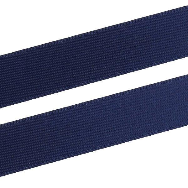 Glad Satijnlint, breed Donkerblauw  16 mm x 91,4 m