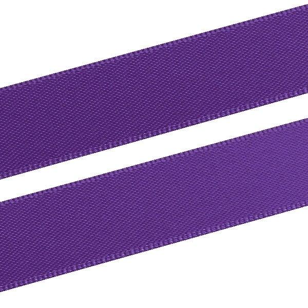 Ruban satin double face, large Violet  16 mm x 91,4 m