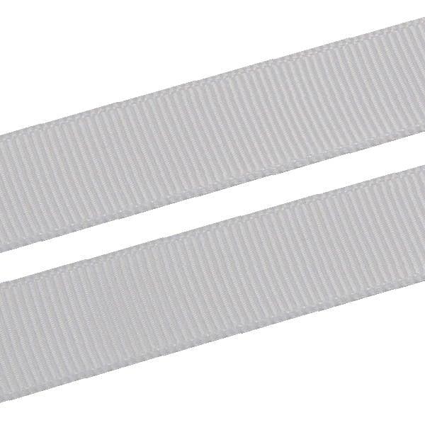 Geribbeld Satijnlint, breed Zilver Grosgrain lint  16 mm x 91,4 m