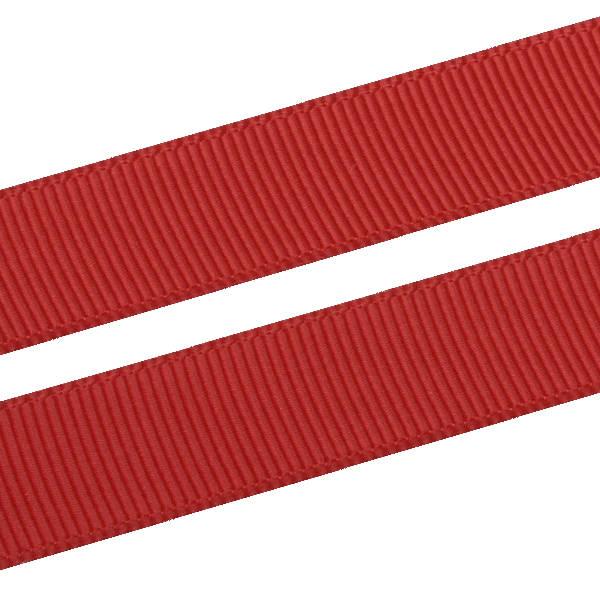 Ruban satin gros grain, large Rouge  16 mm x 91,4 m