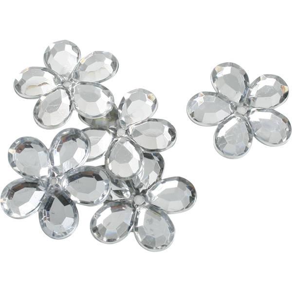 Bloemen groot, 150 st. Zilver  x 25
