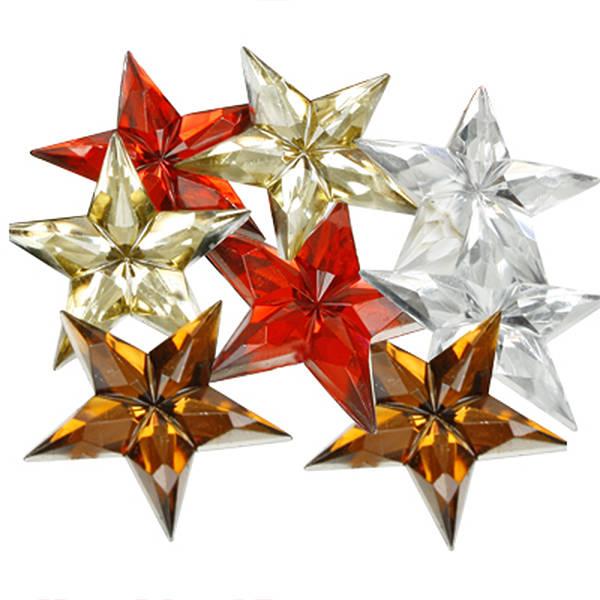 Étoiles adhésives brillants, 150 pcs Plastique brillant, assortiment des couleurs  x 31