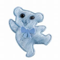 Teddy Beer vilt, 150 st. Licht Blauw 38 x 38