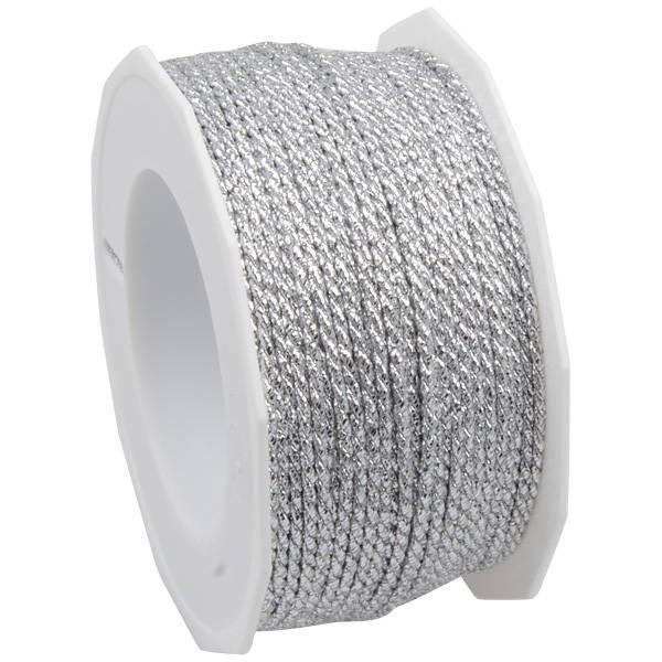 Luxe Gedraaid Lint Metallic Zilver  2 mm x 50 m