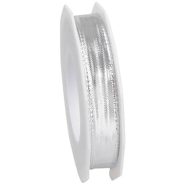 Ruban métallique brillant, étroite Ruban métallisé scintillant, avec fil de fer  15 mm x 20 m