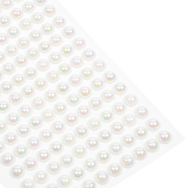 Grandes perles décoratives, adhésives 150 perles par feuille  x 8