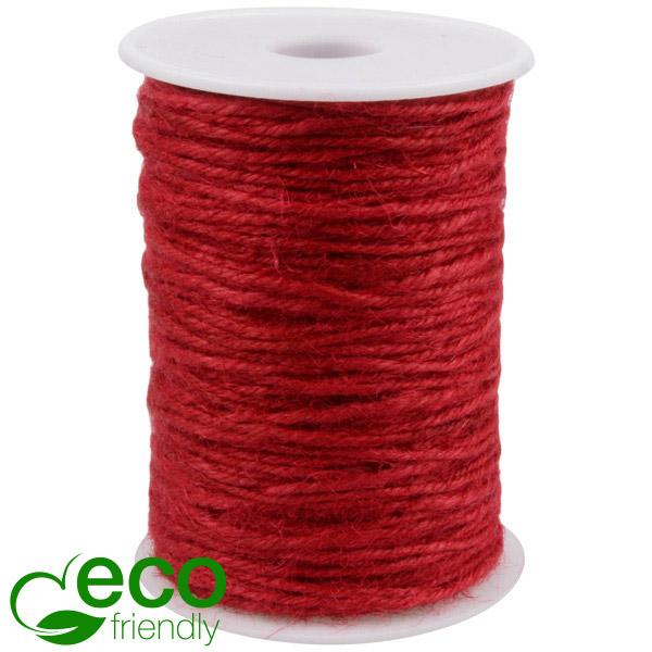 ECO Jute touw Rood  2 mm x 100 m