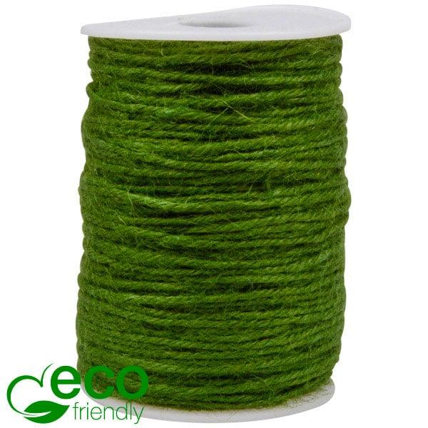 ECO Jute touw Groen  2 mm x 100 m