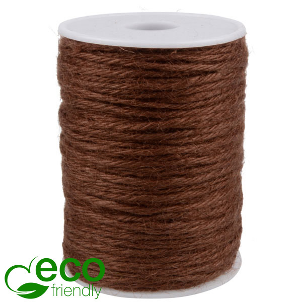ECO Jute touw Bruin  2 mm x 100 m