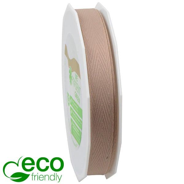 Geweven ECO visgraatlint Naturalna  15 mm x 25 m