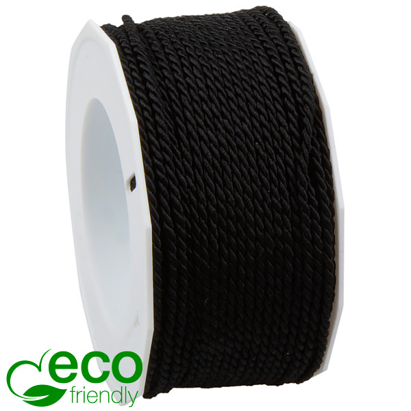 Gedraaid ECO lint Zwart  2 mm x 50 m