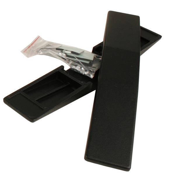 Pieds supports pour dévidoir de papier cadeau Métal noir 300 x 48