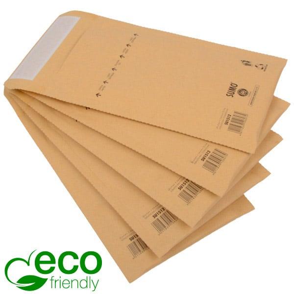 Milieuvriendelijke enveloppen, klein Bruin - luchtkussenenvelop, 100% gerecycled papier 135 x 215