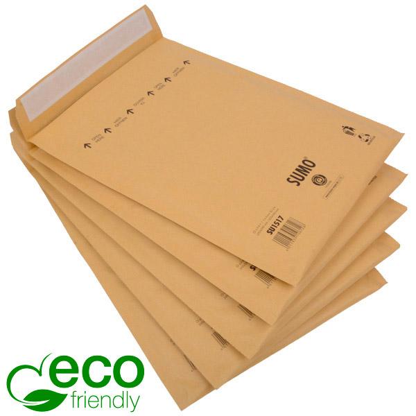 Milieuvriendelijke enveloppen, groot Bruin - luchtkussenenvelop, 100% gerecycled papier 245 x 338