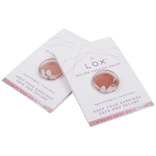 LOX fermoir de sécurité pour boucles d' oreilles Doré rose, sans nickel