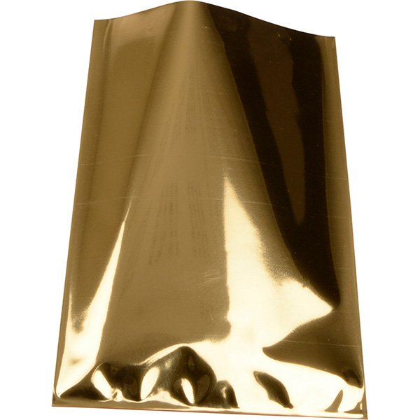 Foliezakje klein, 500 st. Metallic goud 80 x 125