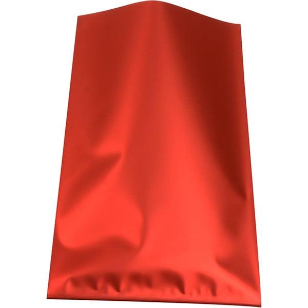 Petites pochettes de papier d'aluminium, 500 pcs Feuille rouge mat 80 x 125