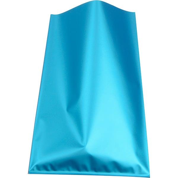 500 stk. Smykkepose i folie, lille Mat turkis folie 80 x 125