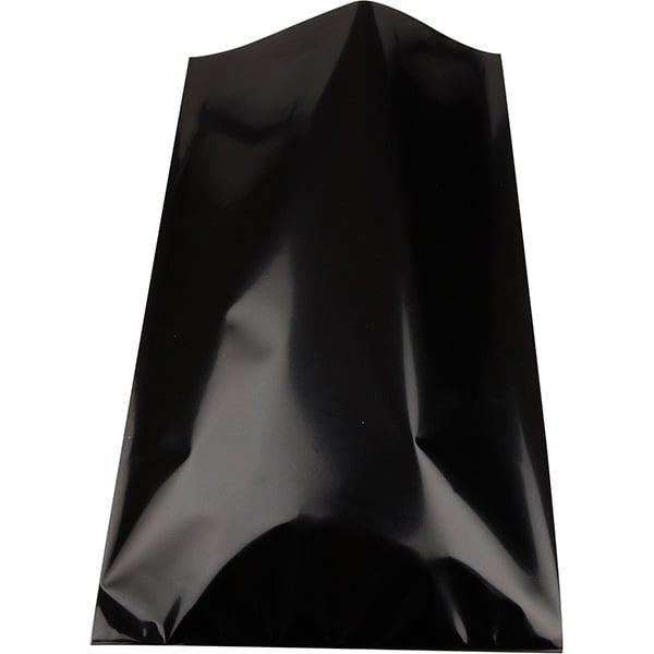 Foliezakje groot, 250 st. Glanzend zwart 150 x 245