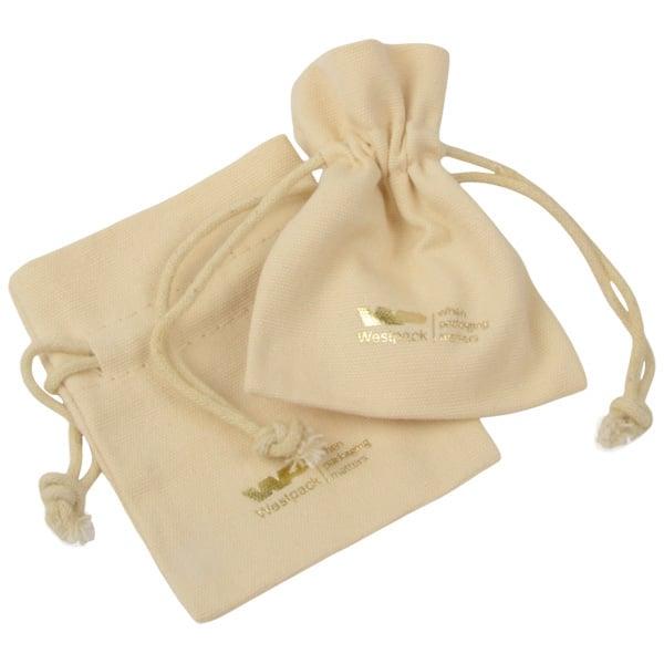 Pochette à bijoux, Mélange de Lin et Coton, Mini Lin couleur naturelle 70 x 90