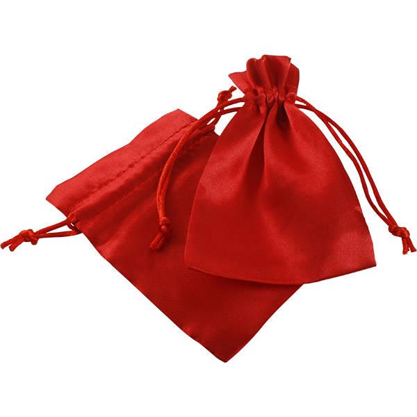 Bourse en satin, taille S Satin rouge 90 x 120