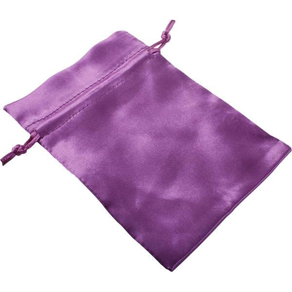 Bourse en satin, taille M Satin violet 110 x 155