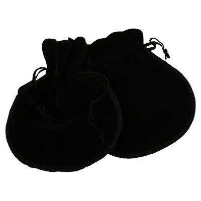 Velours zakje, groot Zwart 125 x 145