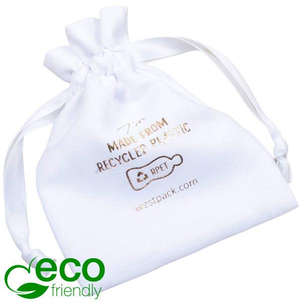 Pochette  à Bijoux ECO en Suédine, taille S 100% Plastique recyclé, Blanc 90 x 120