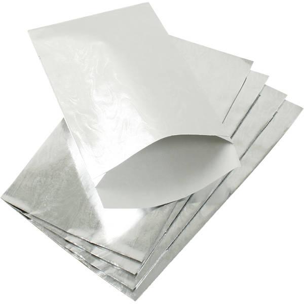Sachet en papier métallique brillant, 500 pcs Papier en couleur argent 90 x 150 76 gsm