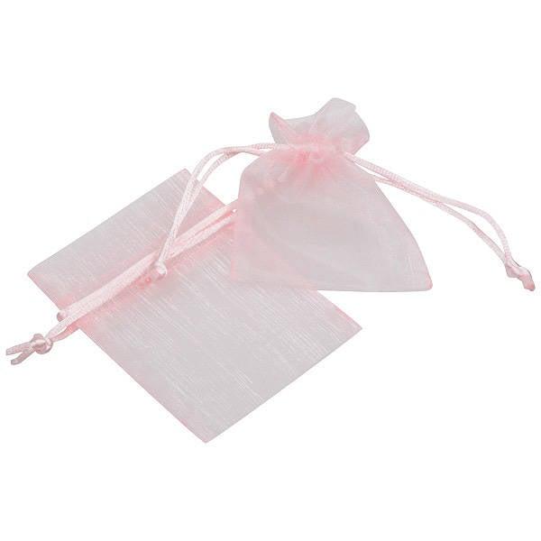 Pochette en organza, taille mini Voile organdi rose clair 70 x 90
