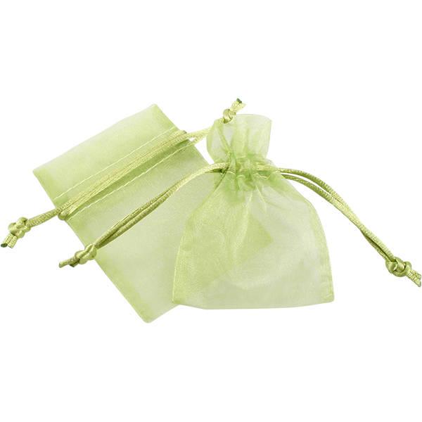 Organza zakje, mini Lime 70 x 90