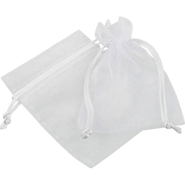 Pochette en organza, taille S Voile organdi blanc 90 x 120