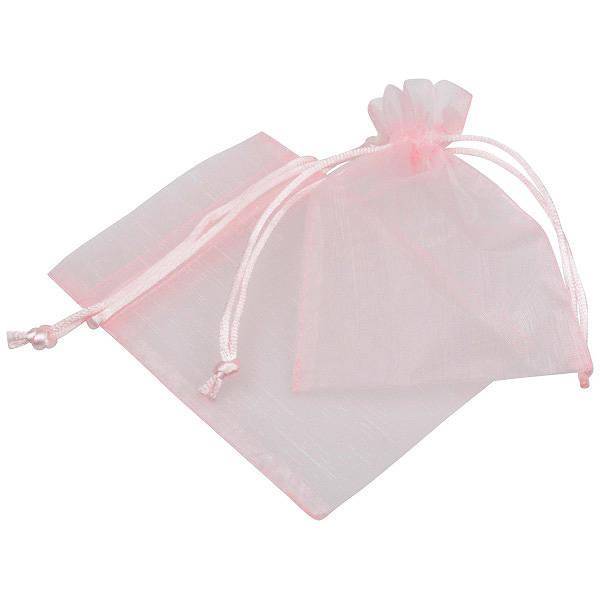 Pochette en organza, taille S Voile organdi rose clair 90 x 120