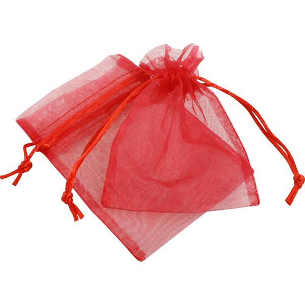 Organza zakje, klein Rood 90 x 120