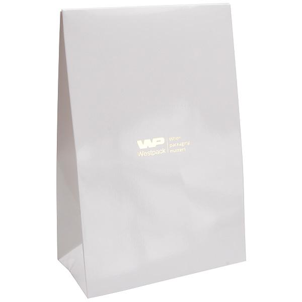 Glanzend cadeauzakje voor sieraden, groot Wit papier 120 x 180 x 64 170 gsm