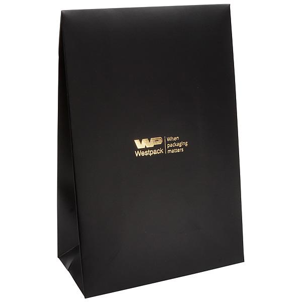 Matte cadeauzakje voor sieraden, groot Zwart papier 120 x 180 x 64 170 gsm